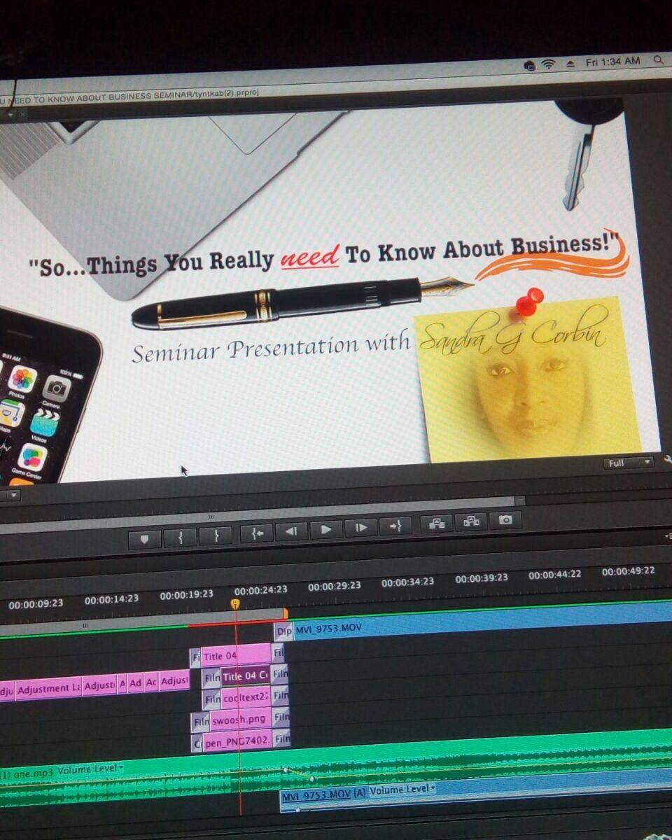 Seminar Video editing screenshot